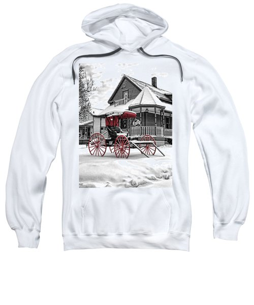 Red Buggy At Olmsted Falls - 2 Sweatshirt