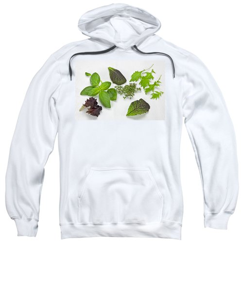 Salad Greens And Spices Sweatshirt by Joana Kruse