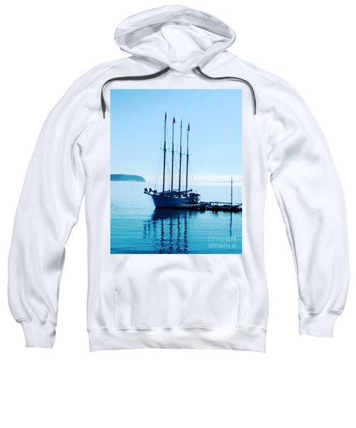 Schooner At Dock Bar Harbor Me Sweatshirt