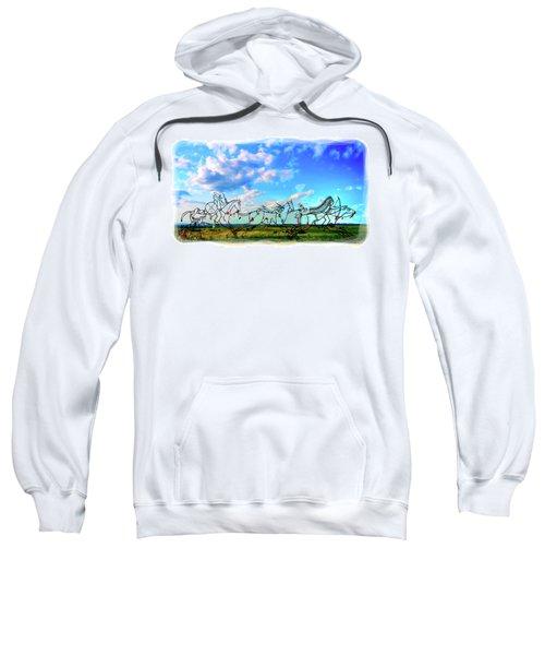 Spirit Warriors - Little Bighorn Battlefield Indian Memorial Sweatshirt