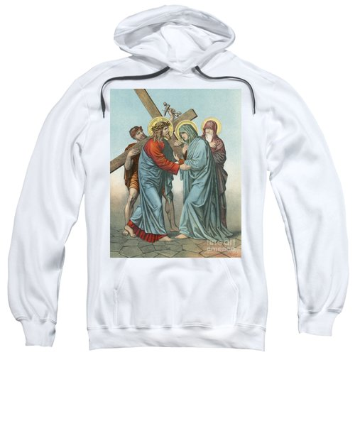 Station Iv Jesus Carrying The Cross Meets His Most Afflicted Mother Sweatshirt