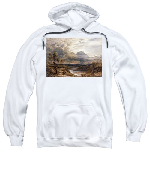 Sun Behind Clouds Sweatshirt by John Linnell