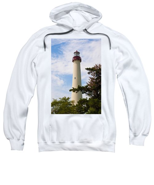 The Lighthouse At Cape May New Jersey Sweatshirt