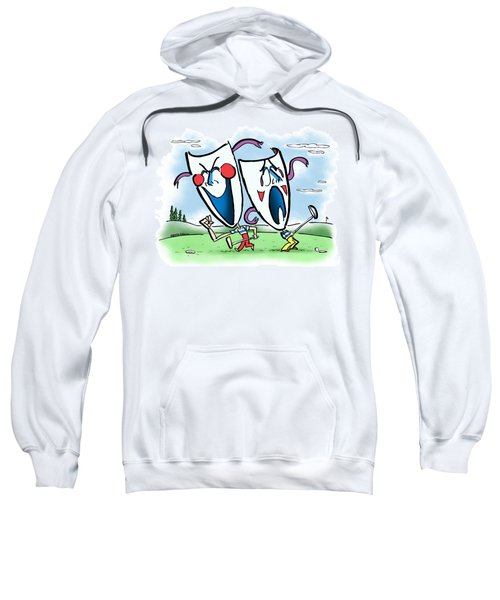 The Two Faces Of Golf Sweatshirt