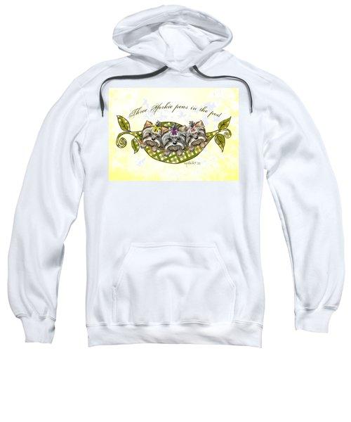 Three Yorkie Peas In The Pod Sweatshirt