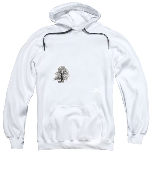 Tree Isolated Under The Snow In The Middle Field In Winter. Sweatshirt