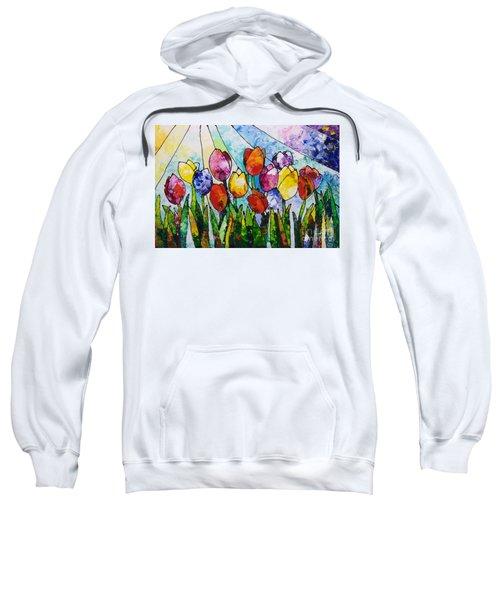 Tulips On Parade Sweatshirt
