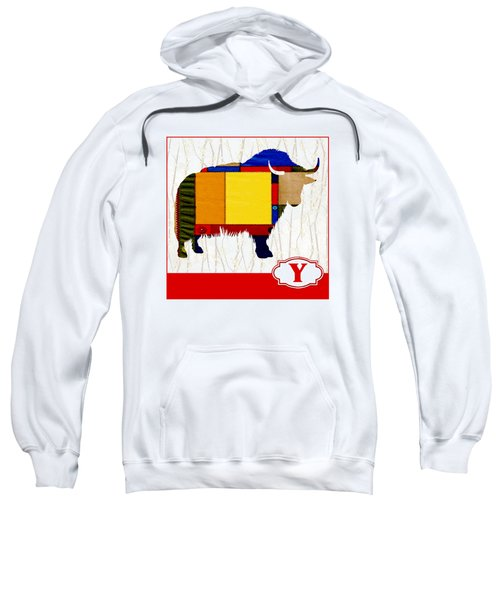 Y Is For Yak Sweatshirt by Elaine Plesser