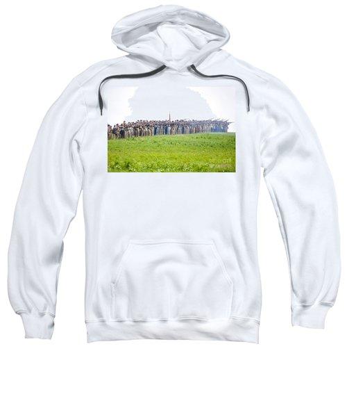 Gettysburg Confederate Infantry 0157c Sweatshirt