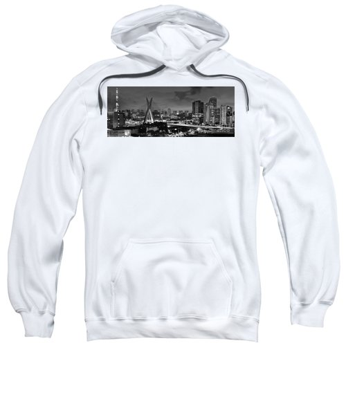 Sao Paulo Iconic Skyline - Cable-stayed Bridge - Ponte Estaiada Sweatshirt