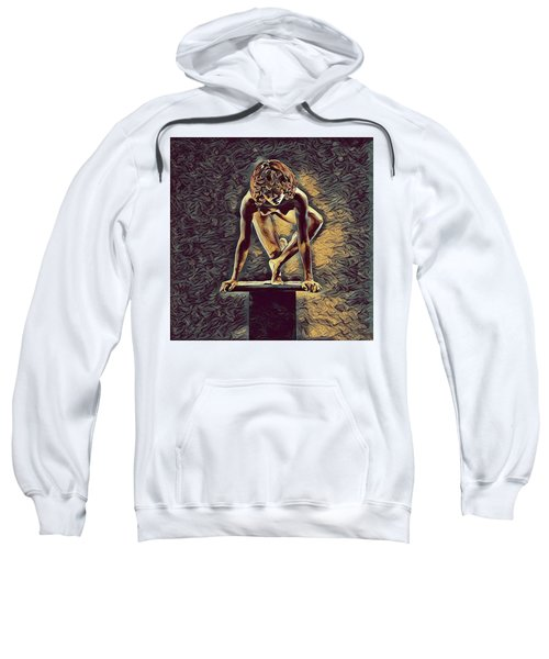 0948s-zak Dancer Balanced On Pedestal In The Style Of Antonio Bravo  Sweatshirt