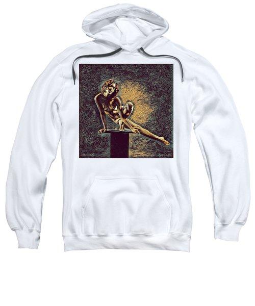 0953s-zac Casual Balance Black Dancer Graceful Strong In The Style Of Antonio Bravo Sweatshirt