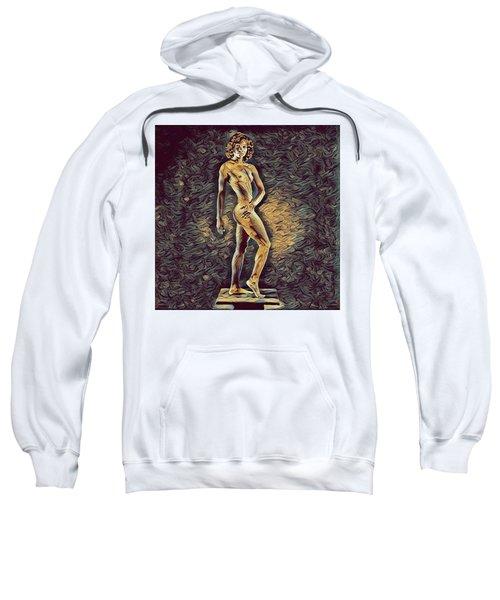 0957s-zac Fit Black Dancer Standing On Platform Sweatshirt