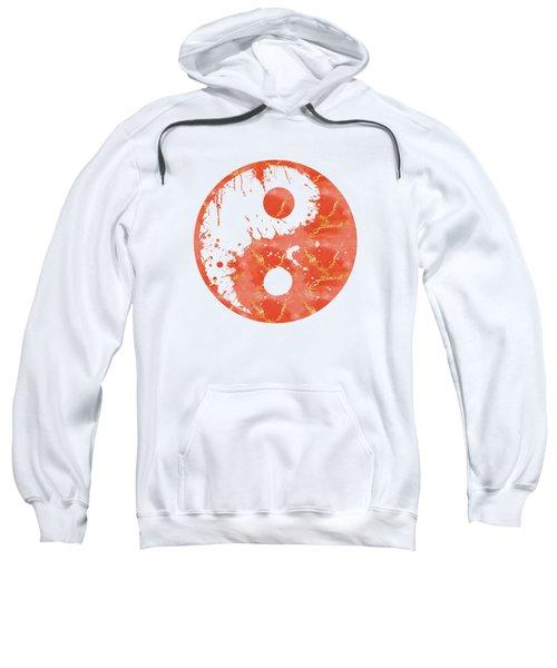 Abstract Yin And Yang Taijitu Symbol Sweatshirt
