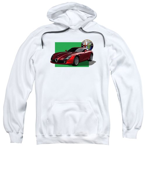 Alfa Romeo Zagato  T Z 3  Stradale With 3 D Badge  Sweatshirt by Serge Averbukh