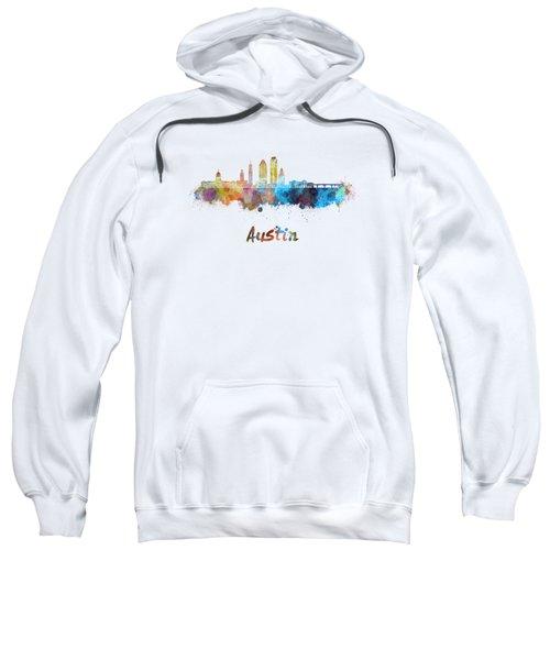 Austin Skyline In Watercolor Sweatshirt