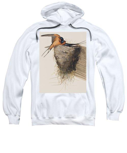 Barn Swallow Sweatshirt by John James Audubon