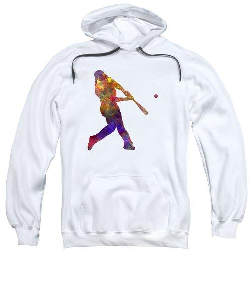 Baseball Player Hitting A Ball Sweatshirt by Pablo Romero