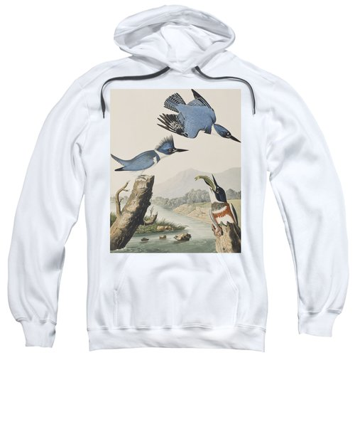 Belted Kingfisher Sweatshirt by John James Audubon