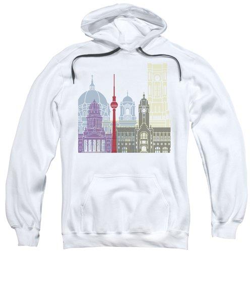 Berlin Skyline Poster Sweatshirt by Pablo Romero