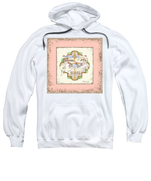 Carousel Dreams - Horse Sweatshirt by Audrey Jeanne Roberts