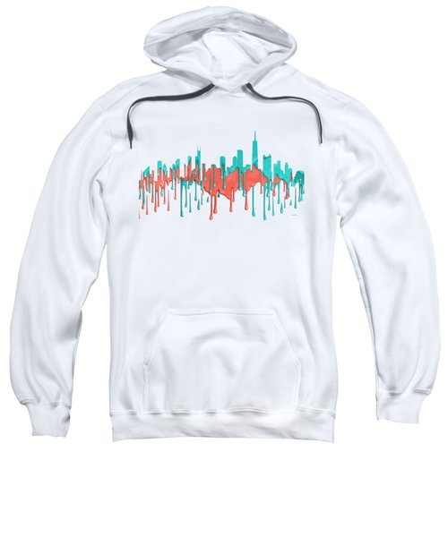 Chicago Illinios Skyline Sweatshirt by Marlene Watson