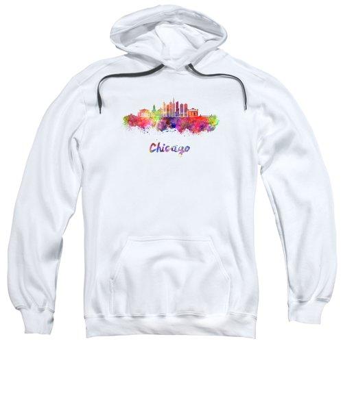 Chicago Skyline In Watercolor Sweatshirt