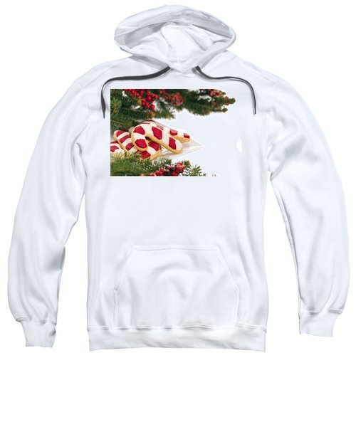 Christmas Cookies Decorated With Real Tree Branches Sweatshirt