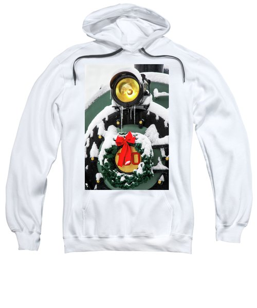 Christmas Train At Pacific Junction Sweatshirt