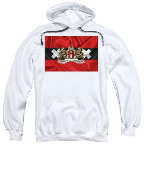 Coat Of Arms Of Amsterdam Over Flag Of Amsterdam Sweatshirt