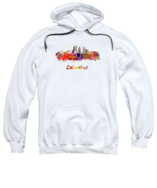Columbus Skyline In Watercolor Sweatshirt