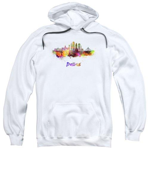 Dallas Skyline In Watercolor Sweatshirt by Pablo Romero