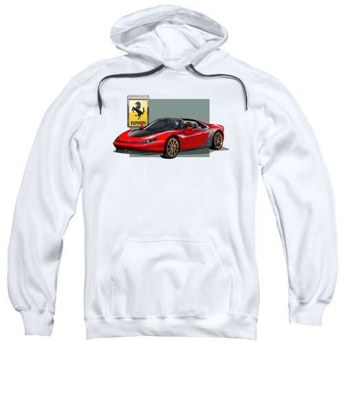 Ferrari Sergio With 3d Badge  Sweatshirt by Serge Averbukh