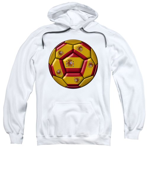 Football Ball With Spanish Flag Sweatshirt