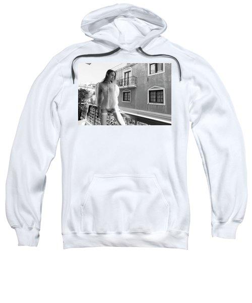 Girl On Balcony Sweatshirt