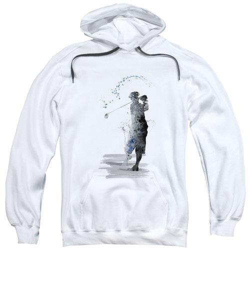 Golfer Sweatshirt by Marlene Watson