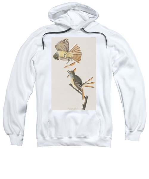 Great Crested Flycatcher Sweatshirt by John James Audubon