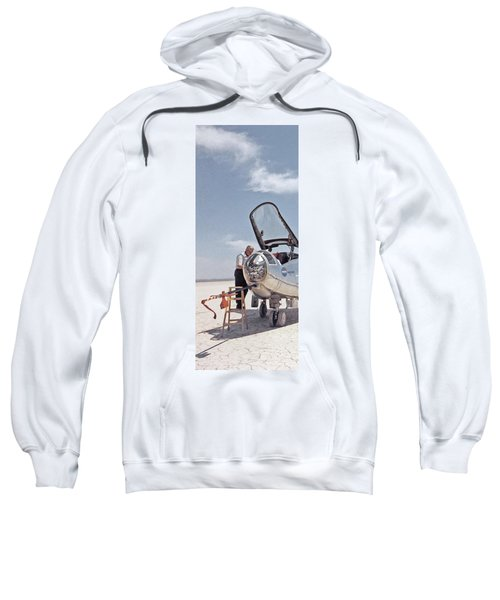Hl-10 On Lakebed With B-52 Flyby Panel 1 Sweatshirt