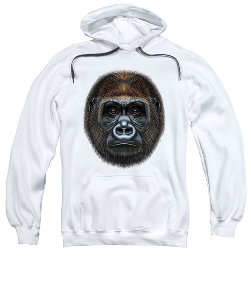 Illustrated Portrait Of Gorilla Male. Sweatshirt