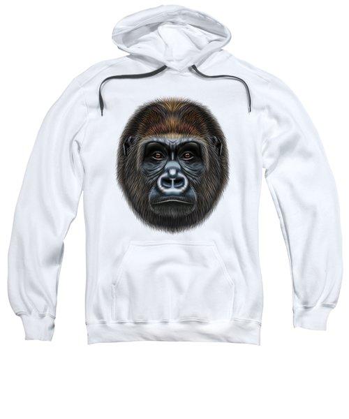 Illustrated Portrait Of Gorilla Male. Sweatshirt
