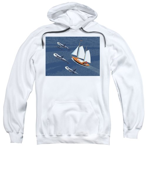 In The Company Of Whales Sweatshirt