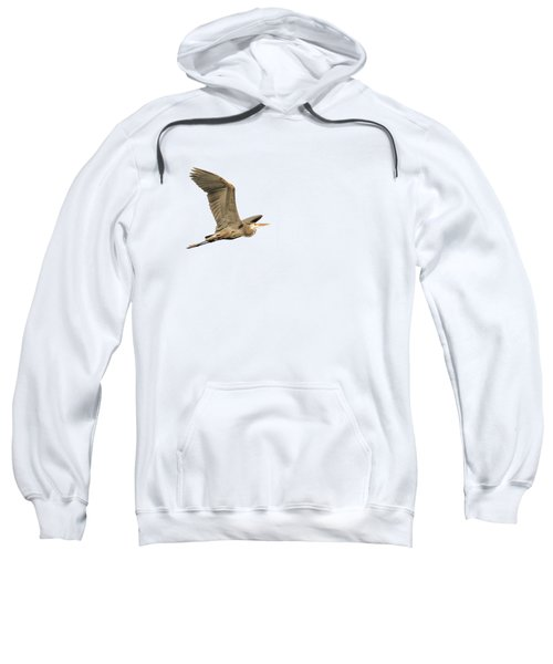 Isolated Great Blue Heron 2015-5 Sweatshirt by Thomas Young