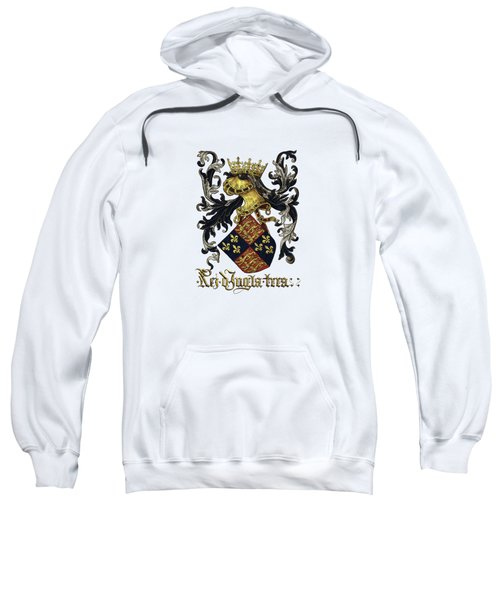 King Of England Coat Of Arms - Livro Do Armeiro-mor Sweatshirt