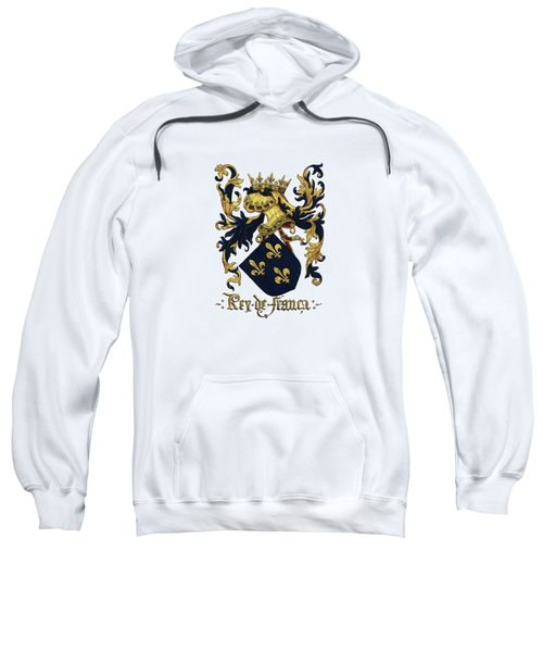 King Of France Coat Of Arms - Livro Do Armeiro-mor  Sweatshirt