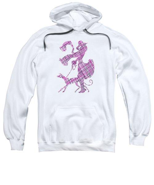 Lady Dog Walker Threads Transparent Background Sweatshirt
