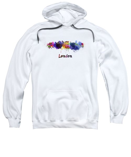 London Skyline In Watercolor Sweatshirt