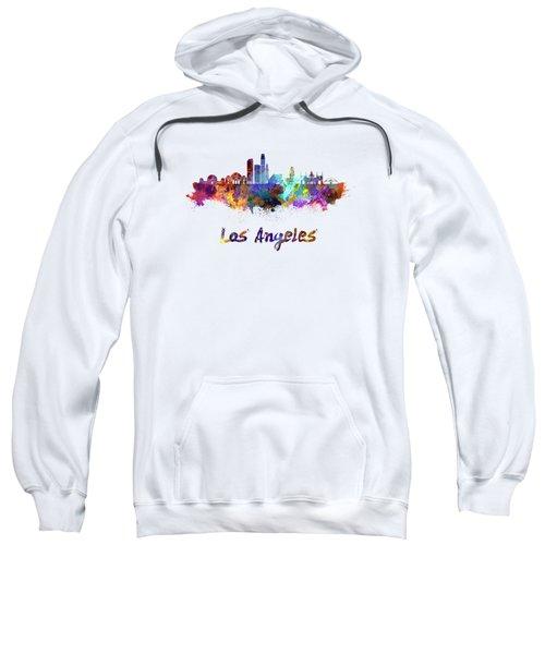 Los Angeles Skyline In Watercolor Sweatshirt