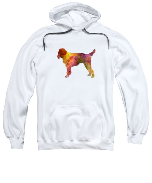 Medium Griffon Vendeen In Watercolor Sweatshirt by Pablo Romero
