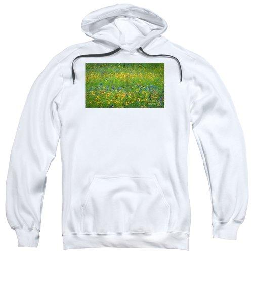 Mixed Wildflowers In Texas 538 Sweatshirt