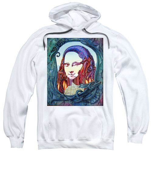 Mona Lisa. Fire Sweatshirt